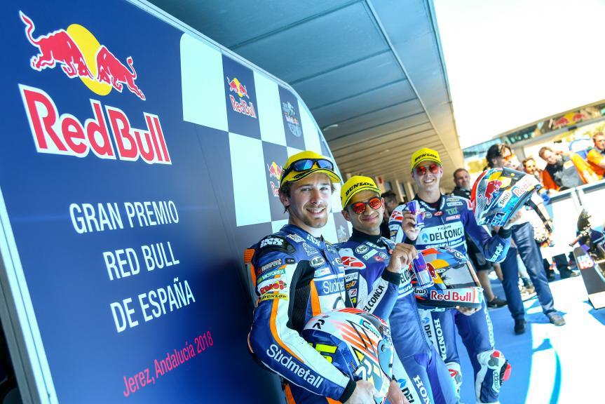 Jorge Martin, Philipp Oettl, Fabio Di Giannantonio, Gran Premio Red Bull de España