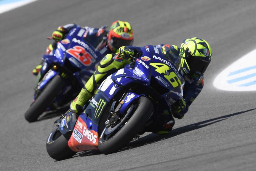 Valentino Rossi, Maverick Viñales, Movistar Yamaha MotoGP, Gran Premio Red Bull de España