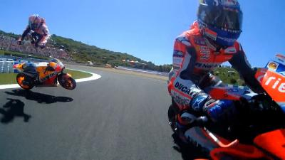 FREE VIDEO: Pedrosa, Lorenzo and Dovizioso collide at turn 6