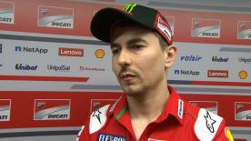 Andrea Dovizioso, Jorge Lorenzo and Dani Pedrosa talk about exactly what happened during the incident and their reactions to it