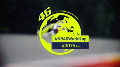 Rossi races once around the world!