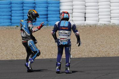 Moto3™ title rivals react to Jerez collision