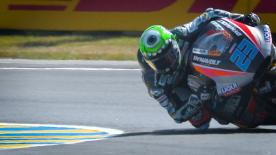 Moto2™ tensions were high on day 1 of the French GP as Bagnaia looks strong in FP2 but Dynavolt Intact's Schrotter tops the combined times
