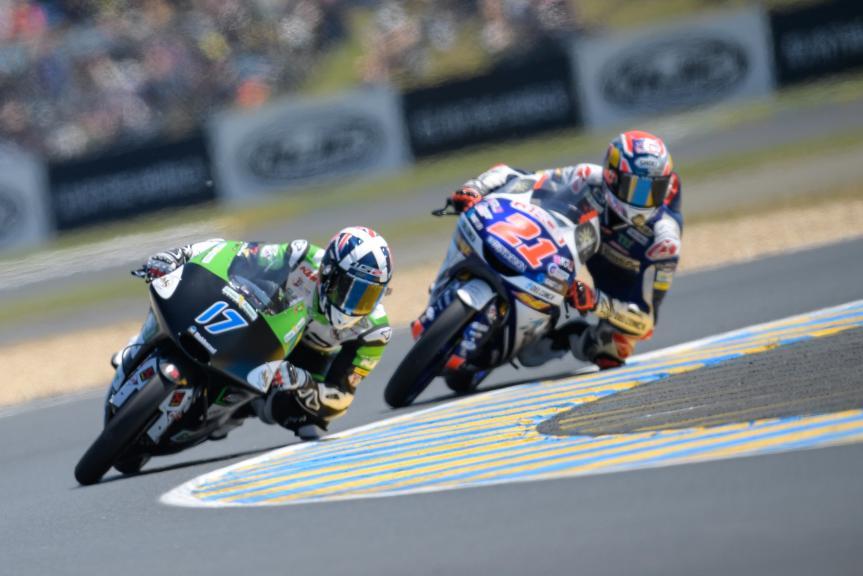 Fabio Di Giannantonio, Del Conca Gresini Moto3, John Mcphee, CIP - Green Power, HJC Helmets Grand Prix de France