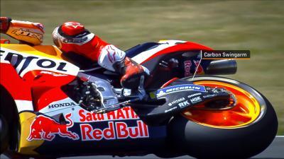 Aprilia se une a Ducati y Honda con el basculante de carbono