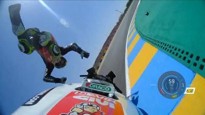 Le Mans: Terrible highside de Crutchlow en Q1