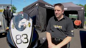 Talan Skeels-Piggins is a disabled motorcycle racer, competing this weekend at Le Mans