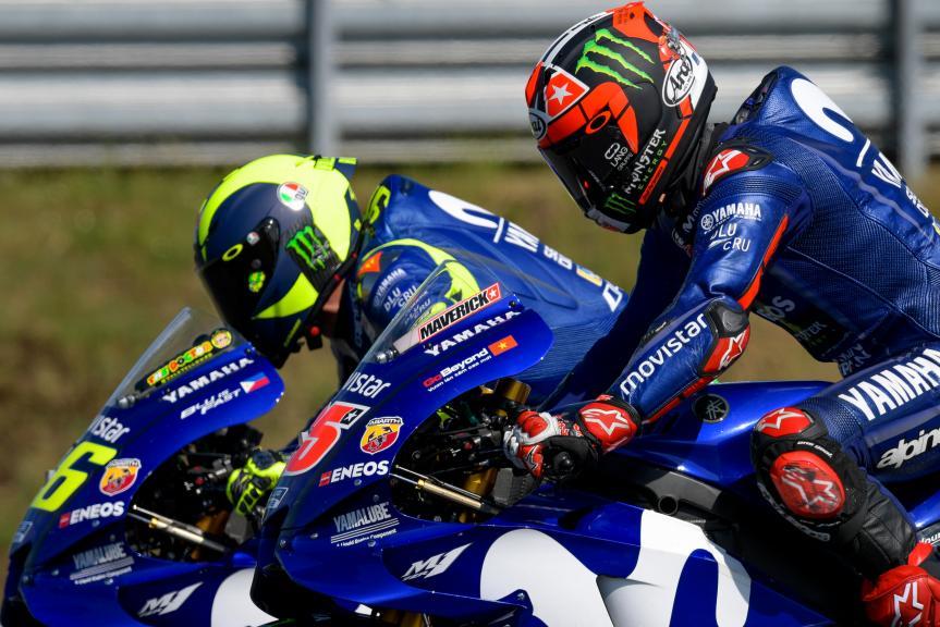 Maverick Viñales, Valentino Rossi, Movistar Yamaha MotoGP, HJC Helmets Grand Prix de France