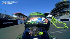 Relive Zarco's pole-winning lap at the Le Mans Bugatti circuit