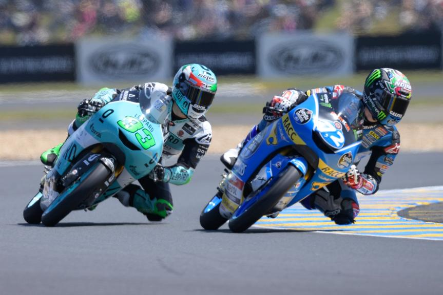 Alonso Lopez, Estrella Galicia 0,0, Enea Bastianini, Leopard Racing, HJC Helmets Grand Prix de France
