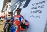 Johann Zarco, Marc Marquez, Danilo Petrucci, HJC Helmets Grand Prix de France