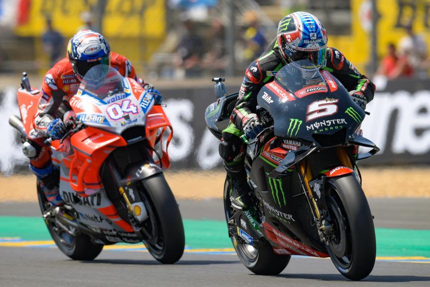 Johann Zarco, Monster Yamaha Tech 3, Andrea Dovizioso, Ducati Team, HJC Helmets Grand Prix de France