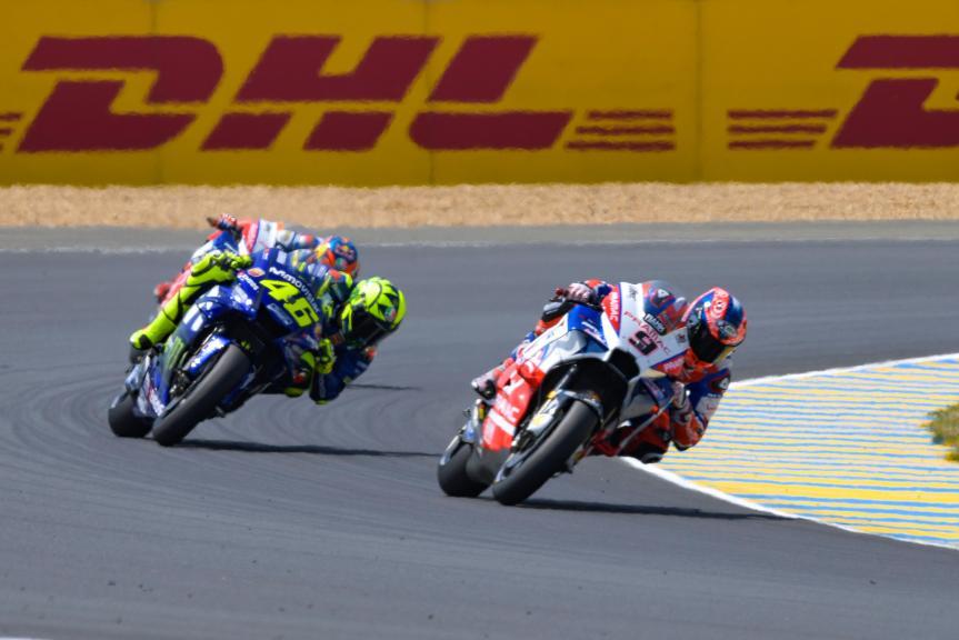 Danilo Petrucci, Alma Pramac Racing, Valentino Rossi, Movistar Yamaha MotoGP, HJC Helmets Grand Prix de France