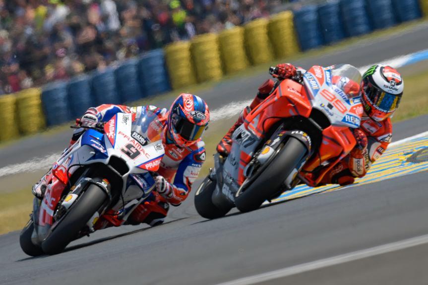 Jorge Lorenzo, Ducati Team, Danilo Petrucci, Alma Pramac Racing, HJC Helmets Grand Prix de France