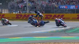 The Championship leaders crash at Turn 14, with the standings blown wide open in Le Mans after a dramatic lightweight class race