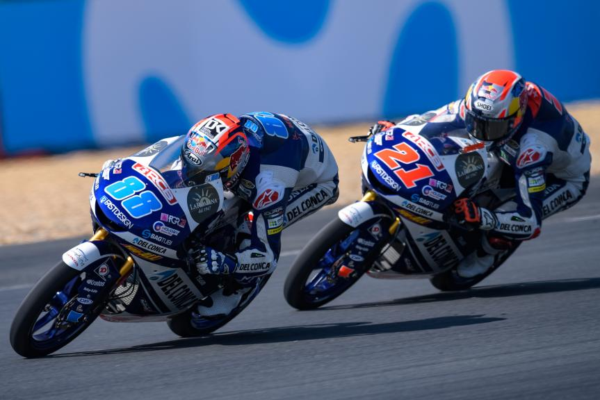 Jorge Martin, Fabio Di Giannantonio, Del Conca Gresini Moto3, HJC Helmets Grand Prix de France