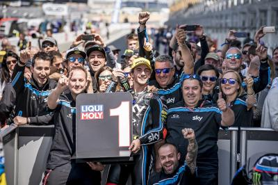 Bagnaia reigns supreme in France