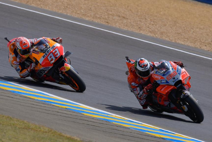Jorge Lorenzo, Ducati Team, Marc Marquez, Repsol Honda Team, HJC Helmets Grand Prix de France