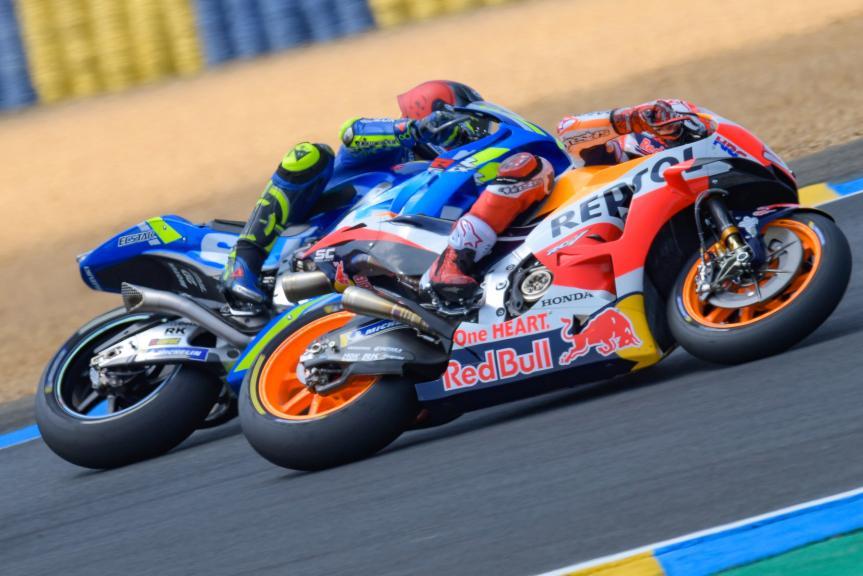 Marc Marquez, Repsol Honda Team, Andrea Iannone, Team Suzuki Ecstar, HJC Helmets Grand Prix de France