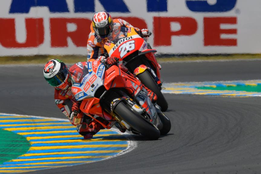 Jorge Lorenzo, Ducati Team, Dani Pedrosa, Repsol Honda Team, HJC Helmets Grand Prix de France