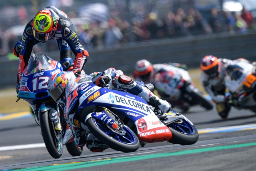 Marco Bezzecchi, Pruestelgp, Fabio Di Giannantonio, Del Conca Gresini Moto3, HJC Helmets Grand Prix de France