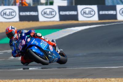 Pasini lidera, Mir intimida en el Warm Up