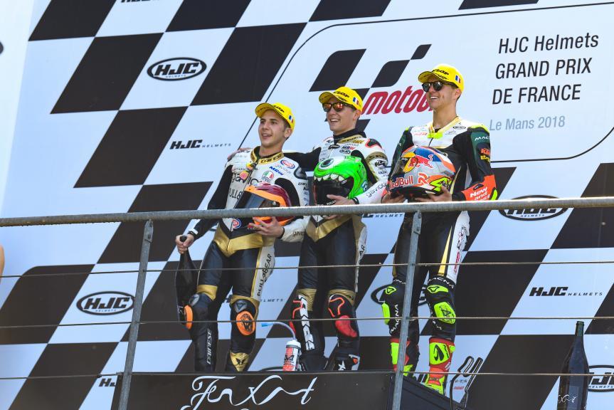 Albert Arenas, Andrea Migno, Marcos Ramirez, HJC Helmets Grand Prix de France