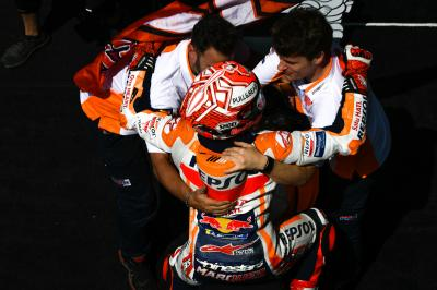 Marquez equals Stoner as Rossi gets back on the podium