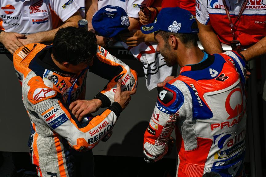 Marc Marquez, Danilo Petrucci, HJC Helmets Grand Prix de France