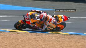 Marc Márquez s'était fait piéger dans la chicane Dunlop en FP3, mais l'Espagnol n'a pas commis deux fois la même erreur…