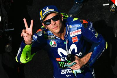 Back on track: Rossi makes podium return