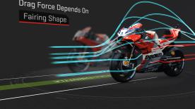Depending on the fairing, it's possible to improve the top speed or acceleration when exiting turns, but there's always a compromise