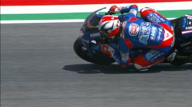 The Italtrans Racing Team rider secured pole ahead of Schrotter and Marquez in a thrilling qualifying session at Mugello