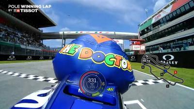バレンティーノ・ロッシのポールポジションラップ