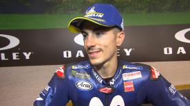 After plowing through both Q1 and Q2 the Movistar Yamaha rider will start the Italian GP from the the front row tomorrow