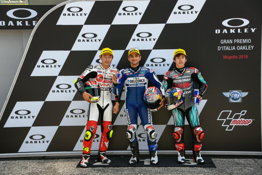 Jorge Martin, Tatsuki Suzuki, Ayumu Sasaki, Gran Premio d'Italia Oakley