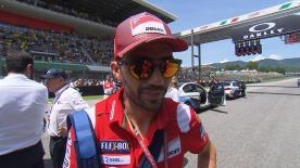 Michele Pirro, tout juste sorti de l'hôpital après sa terrible chute de la FP2, regrettait de ne pas pouvoir participer à son épreuve nationale.