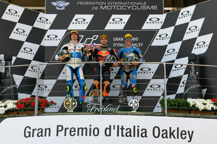 Miguel Oliveira, Lorenzo Baldassarri, Joan Mir, Red Bull KTM Ajo, Gran Premio d'Italia Oakley