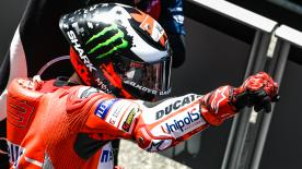 A Ducati 1 - 2 and the Doctor on step 3. Marquez falls and fails to score points