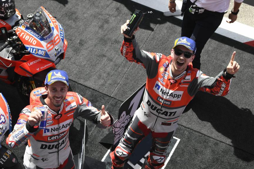 Andrea Dovizioso, Jorge Lorenzo, Ducati Team, Gran Premio d'Italia Oakley