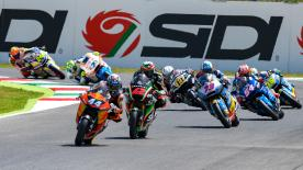 The full race session of the Moto2? World Championship at the Mugello Circuit.
