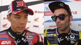 Les principaux protagonistes du MotoGP™ reviennent sur leur GP d'Italie.