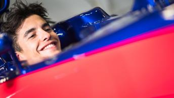 Marc Marquez in a Toro Rosso of F1
