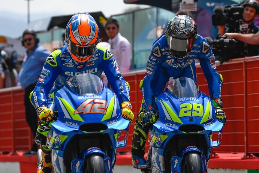 Andrea Iannone, Alex Rins, Team Suzuki Ecstar