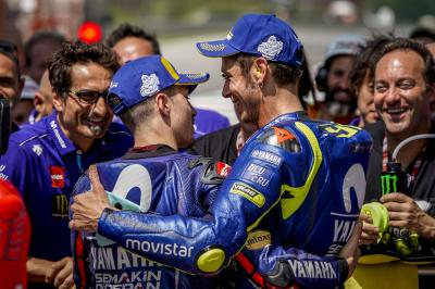 Rossi and Viñales aiming for the podium in Barcelona