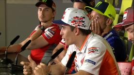 Marquez, Rossi and Crutchlow give their thoughts about the number 99's jump from Ducati to Repsol Honda