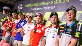 Catch the rider's thoughts and their answers to social media questions ahead of the Catalan Grand Prix