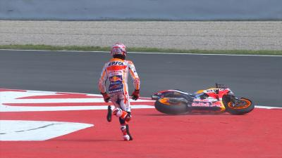 Costly late crash for Marquez at Turn 10 in FP3!