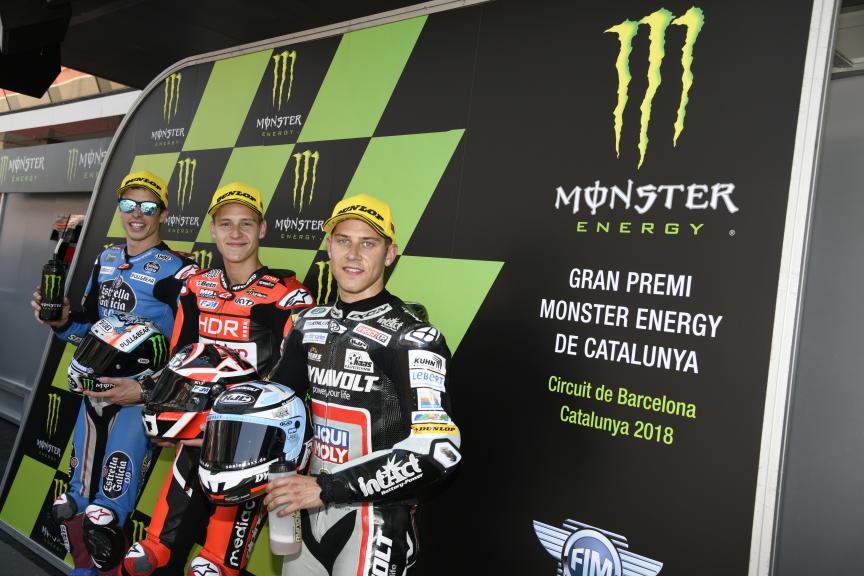 Fabio Quartararo, Alex Marquez, Marcel Schrotter, Gran Premi Monster Energy de Catalunya