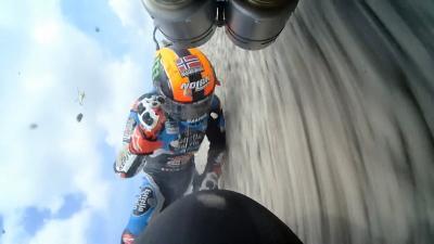 Spectacular 3 bike crash involving Canet in Moto3™